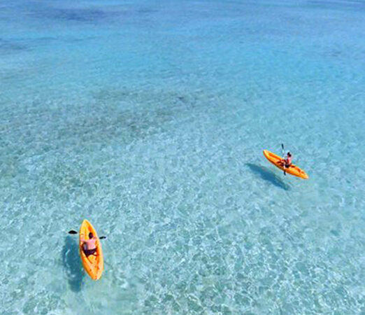 Kayaks on the Ocean