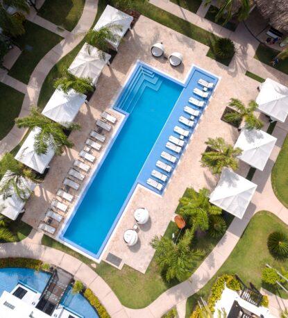 Aerial image of pool