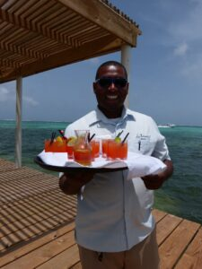 Curl and Las Terrazas Resort's famous Rum Punch